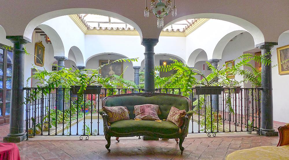 velvet sofa in Malaga