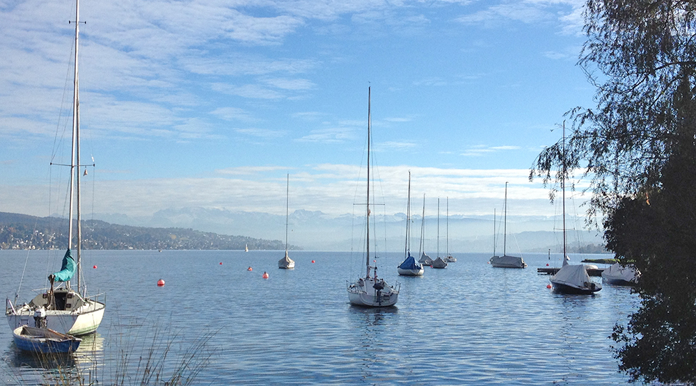 sailing boats in Zurich